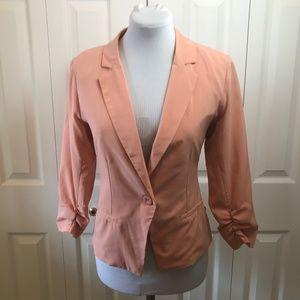 Mine Soft Peach One Button Blazer sz M